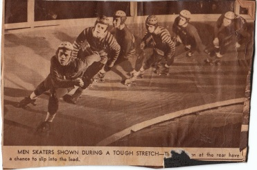 Unknown newspaper clipping of male skaters.