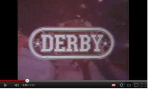 """Title screen from """"Derby"""", 1971."""