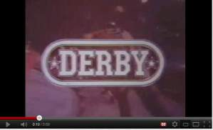 "Title screen from ""Derby"", 1971."